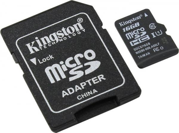 Носители информации Flash Card Kingston SDCS/16GB