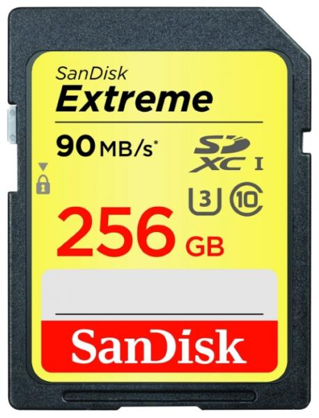 SanDisk Extreme SDXC UHS Class 3 90MB/s 256GB (SDSDXNF-256G-GNCIN)